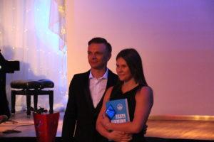 Maria Romanjuk Eesti Ujumisliidu aasta gala autasustamisel